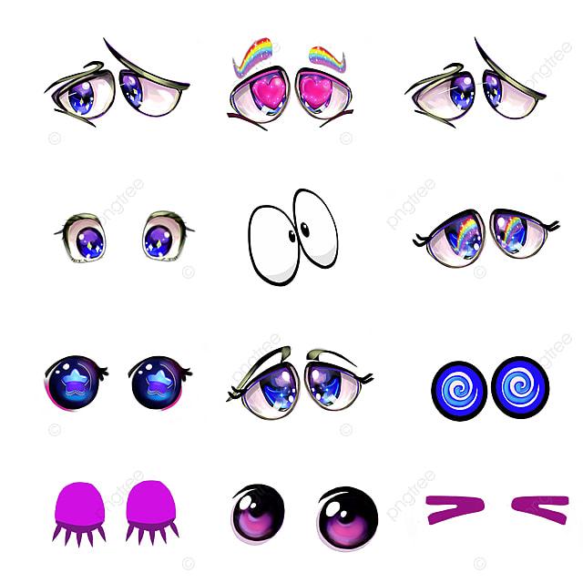 Olhos Bonitos Desenhos Animados Engracados Arte Digital Handdrawn Png Olho Desenho Animado Imagem Png E Psd Para Download Gratuito