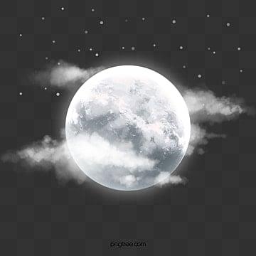 красивая ночь светящаяся луна, ночь, люминесценция, Луна PNG и PSD