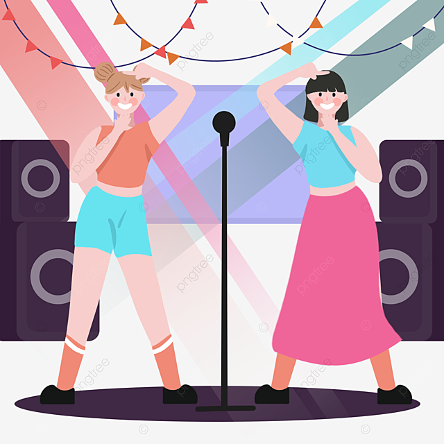 Cartoon Hand Drawn Kpop Music Singing Talent Illustration Sing Talent And Skill Dance Png Transparent Clipart Image And Psd File For Free Download