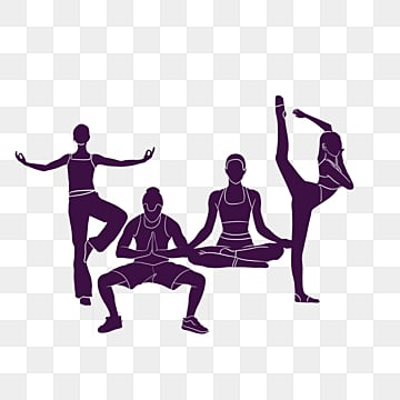 free download  yoga with folded hands silhouette figures