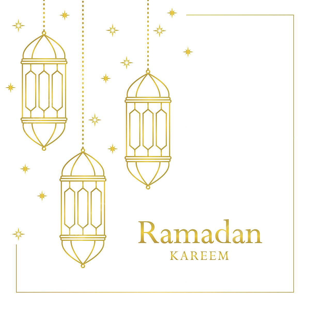 رمضان كريم باللونين الأبيض والذهبي أنيق الذهب أبيض Png والمتجهات للتحميل مجانا