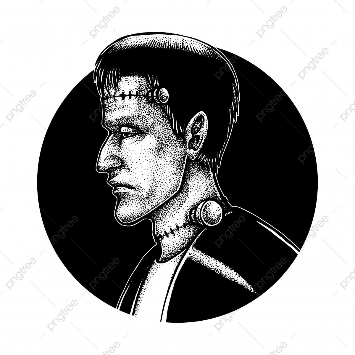Frankenstein Clipart Black And White https://ift.tt/2Yn0lAA | Clipart black  and white, Clip art, Line art