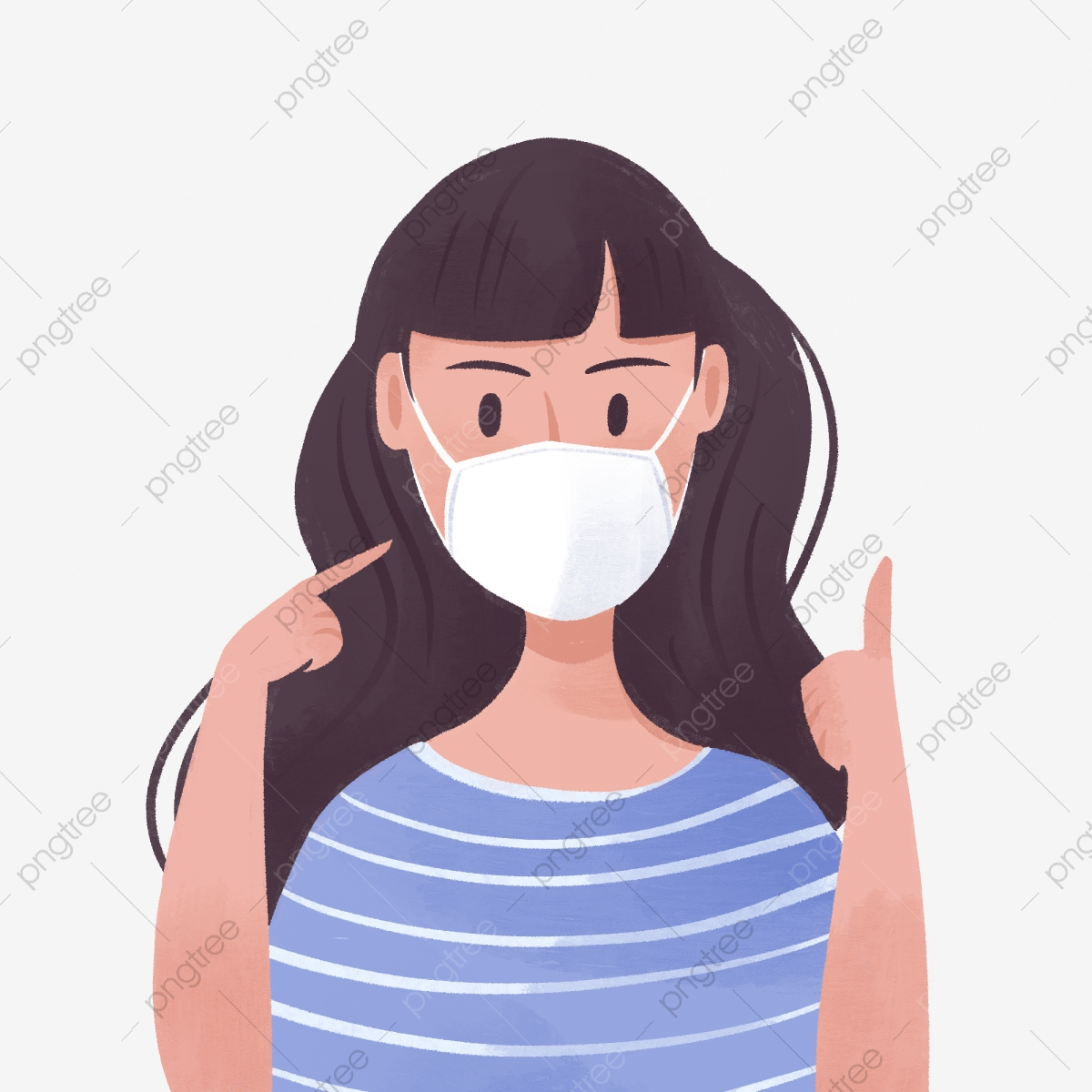 gambar kartun besar gambar png file vektor dan psd unduh gratis di pngtree https id pngtree com freepng hand drawn cute girl wearing mask 5341060 html