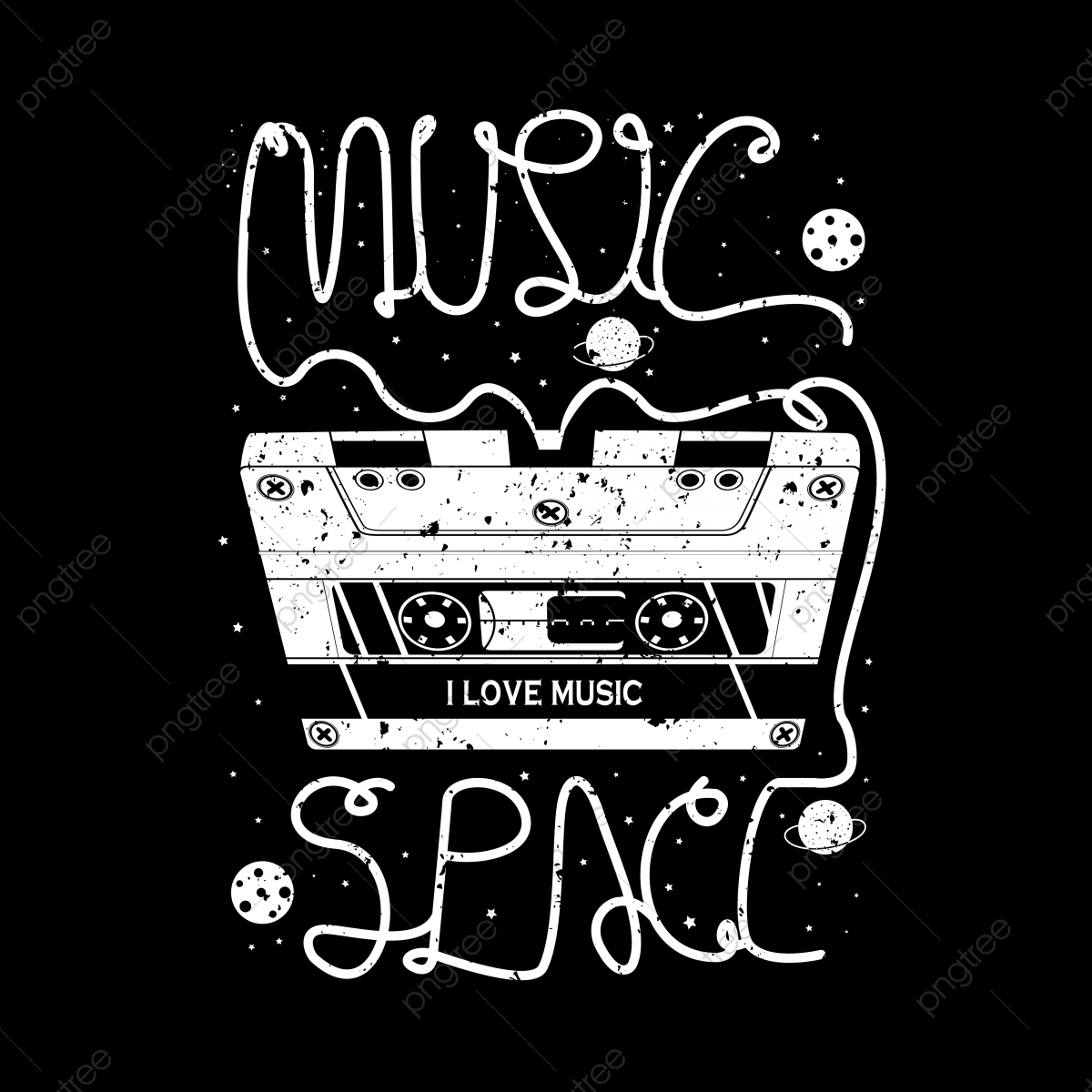 pngtree music typography t shirt design png image 5337082