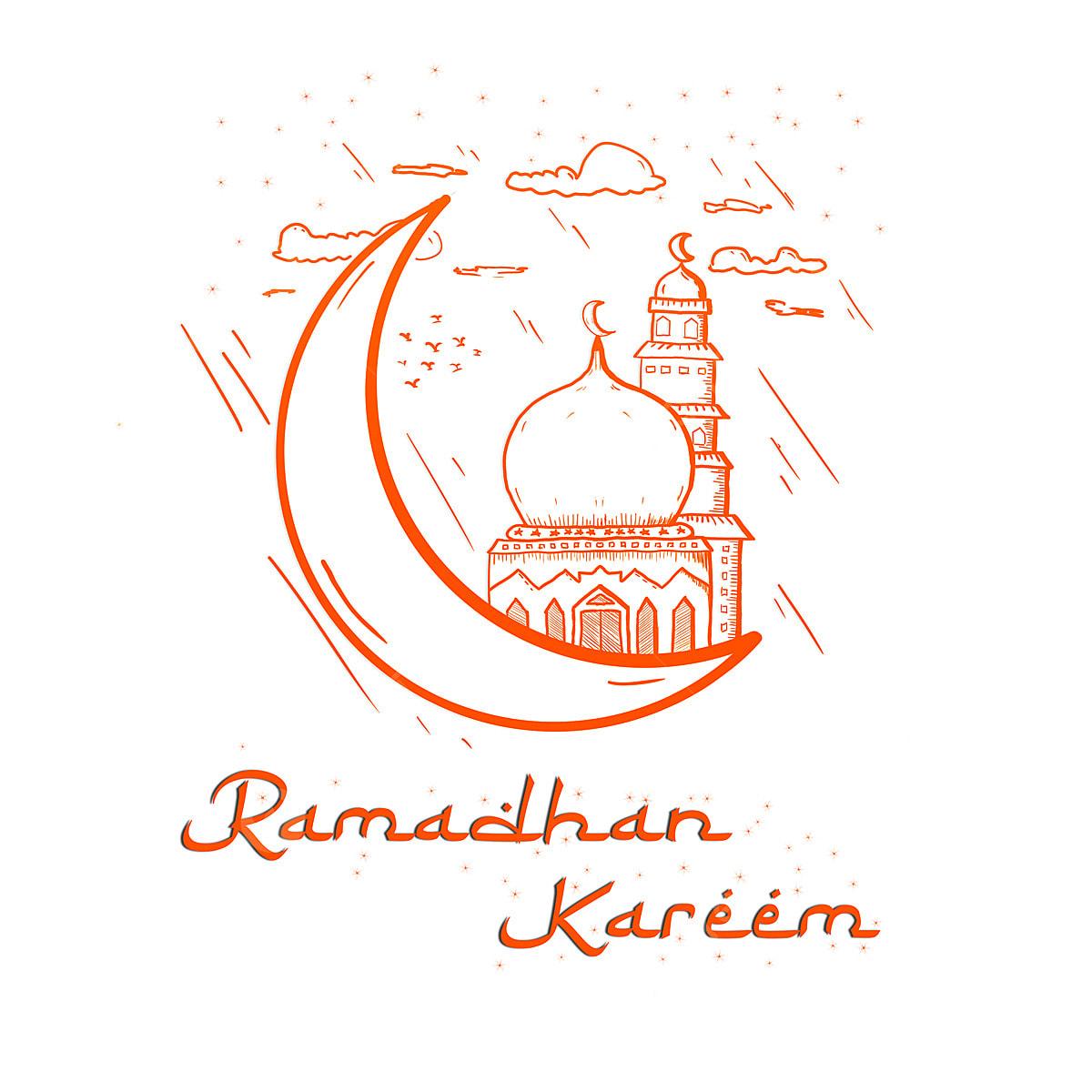 Sketsa Gambar Kartun Ramadhan – Aneka Gambar