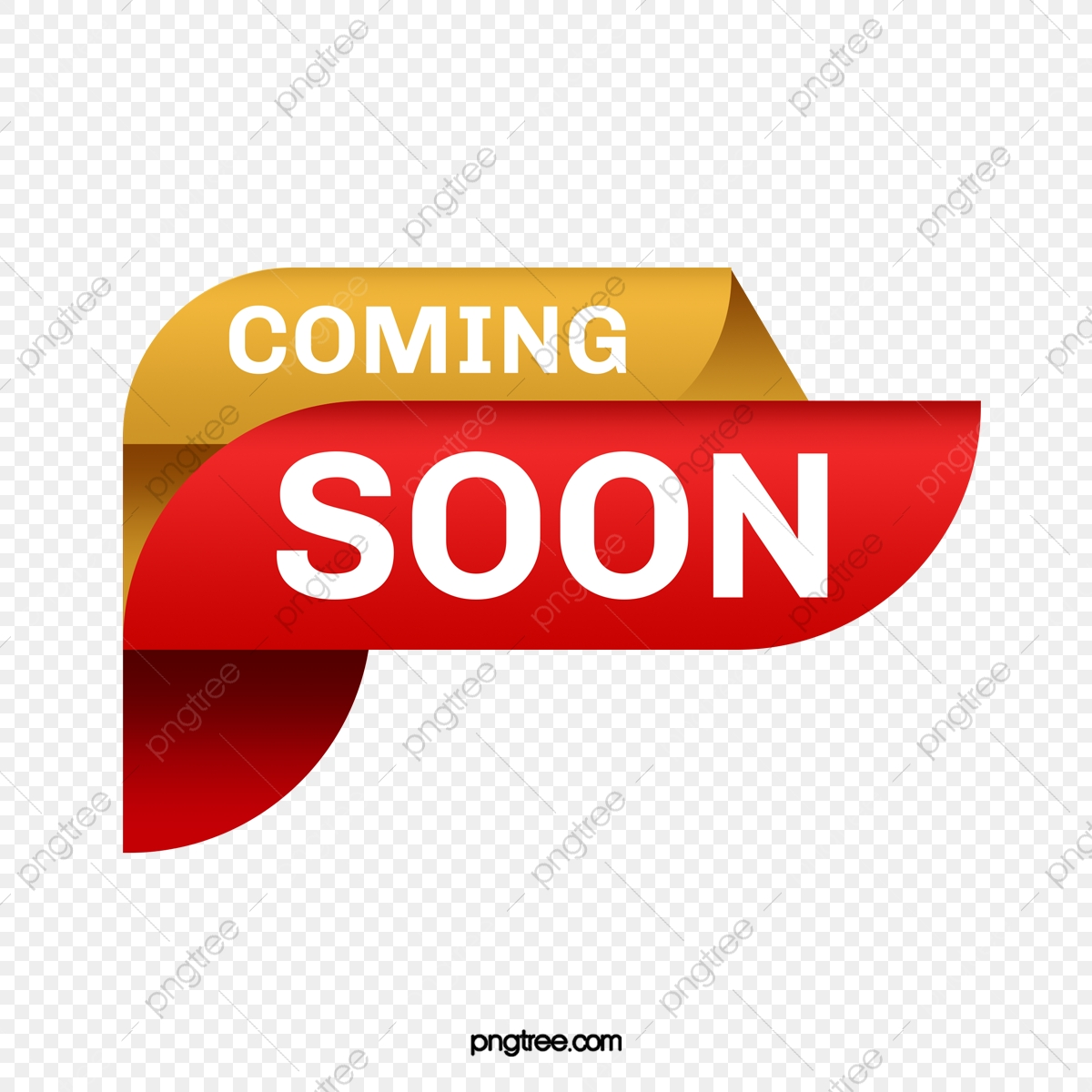 Red Banner Coming Soon Red Flag Subscript Png Transparent Clipart Image And Psd File For Free Download