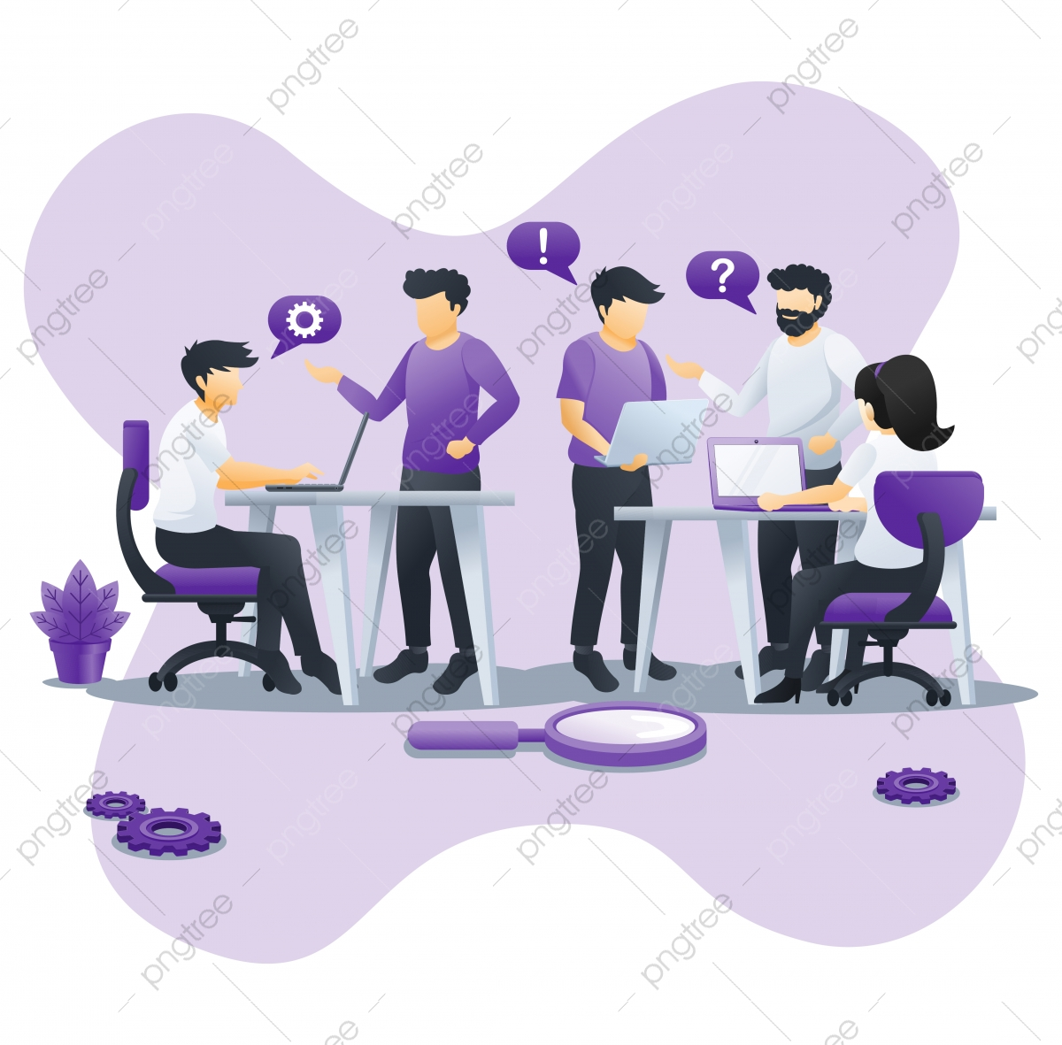 Team Work Concept Design With People Work On Table Business Leadership Cooperation Partnership Team Metaphor Team Work Symbol Flat Vector Illustration Brainstorming Business Businessman Png And Vector With Transparent Background For Free