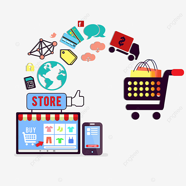 Business Concept Of Online Shopping E Commerce, Internet ...