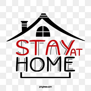 просто сидеть дома рисованной, клипарт, крыша, останься дома PNG и PSD