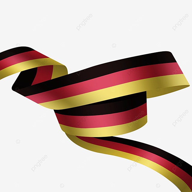 Realistic German Flag Streamer Realism Germany National Flag Png Transparent Clipart Image And Psd File For Free Download