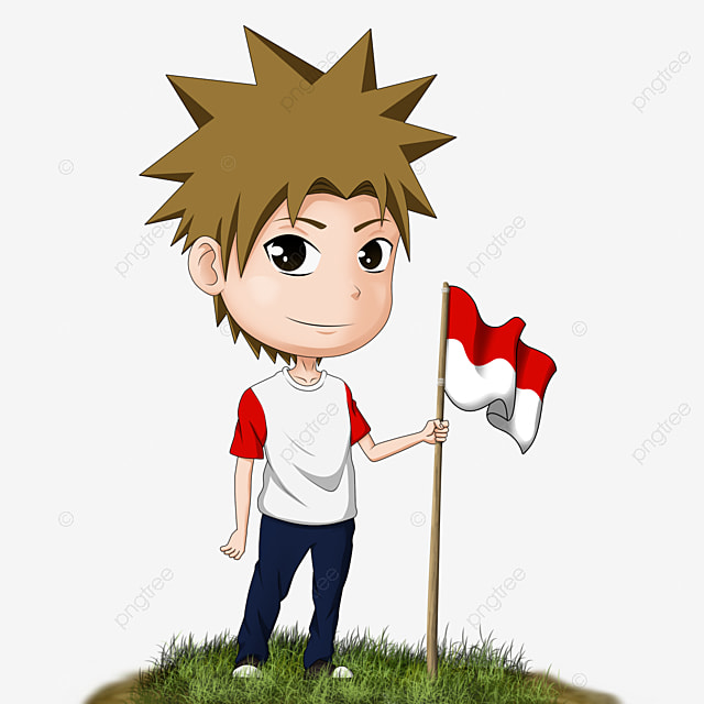 anime chibi character indonesia flag child color school png transparent clipart image and psd file for free download anime chibi character indonesia flag