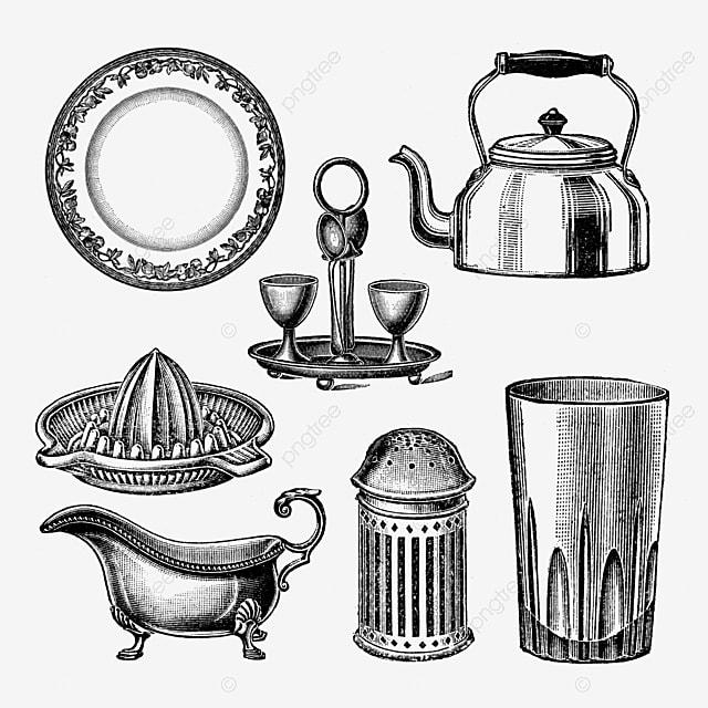 Gambar Koleksi Peralatan Dapur Vintaj Hitam Pada Lutsinar Peralatan Dapur Dapur Hitam Png Dan Psd Untuk Muat Turun Percuma