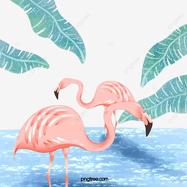 Elemento De Flamingo Fresco De Fantasia Flamingo Vermelho Rosa Arquivo Png E Psd Para Download Gratuito