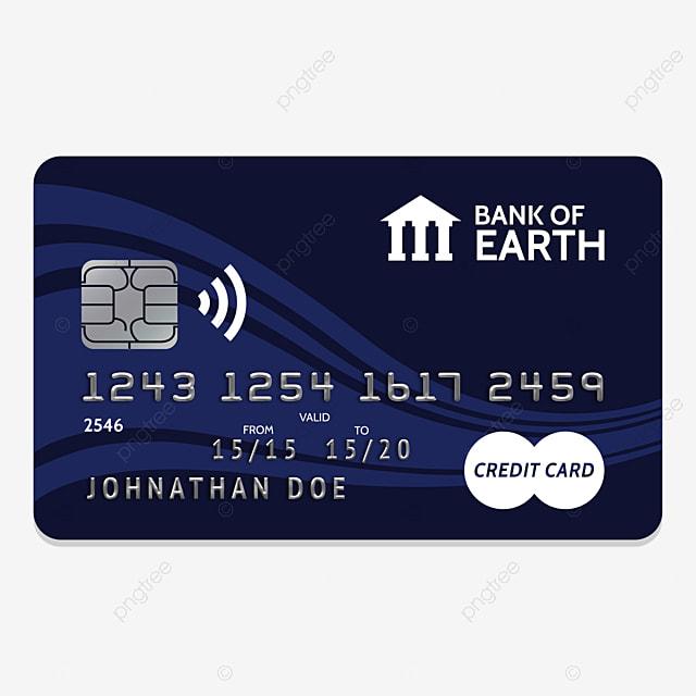 Editable Fake Plastic Credit Card, Credit, Card, Plastic PNG