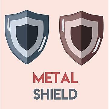 โล่โลหะสองอันเพื่อเป็นสัญลักษณ์ป้องกันหรือสัญลักษณ์ความปลอดภัย, เกราะ, คลาสสิก, โล่สี PNG และ PSD
