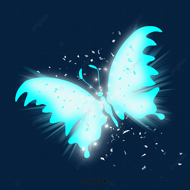 Blue Glow Light Effect Butterfly Blue Glow Light Effect Png Transparent Clipart Image And Psd File For Free Download