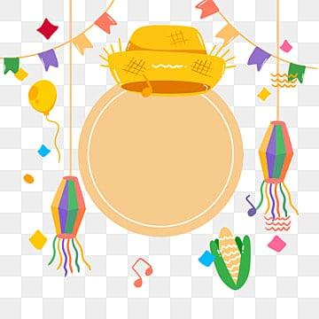 Мультяшный рисованной желтой соломенной шляпе Бразилии иллюстрации, Феста Юнина, Ручной росписью, Соломенная шляпа PNG и PSD