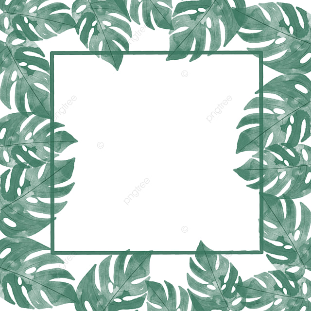 tropical frame with monstera leaves tropical frame green png transparent clipart image and psd file for free download tropical frame with monstera leaves
