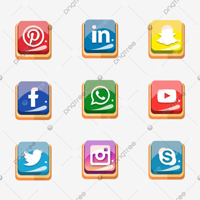 Flat Social Media Icons Set Design Set Of Social Networking Icons Web Design Flat Icons Isolated Icons Social Media Flat Png Transparent Clipart Image And Psd File For Free Download