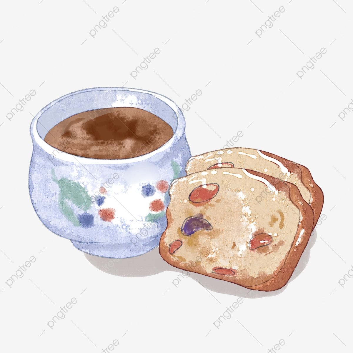 Afternoon Tea Bread Milk Tea Watercolor Afternoon Tea Dessert Combination Png Transparent Clipart Image And Psd File For Free Download
