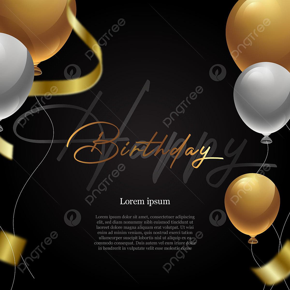 https pngtree com freepng black and gold birthday invitation 5359478 html