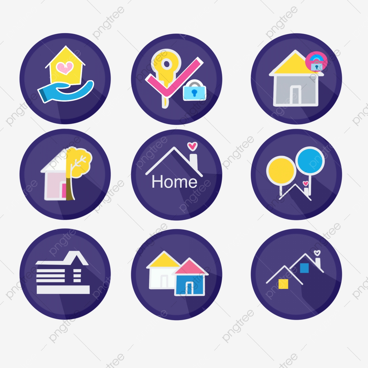 Color House Icons House Icon Logo Png Transparent Clipart Image And Psd File For Free Download