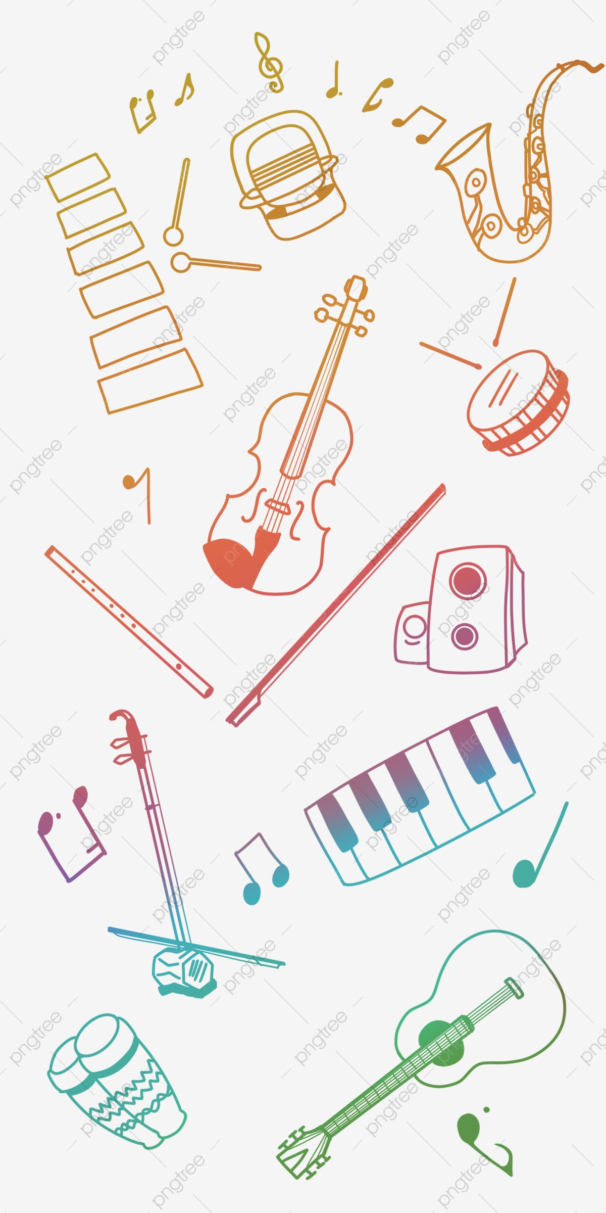 Concert Line Drawing Musical Instrument, Music, Musical Instrument ...