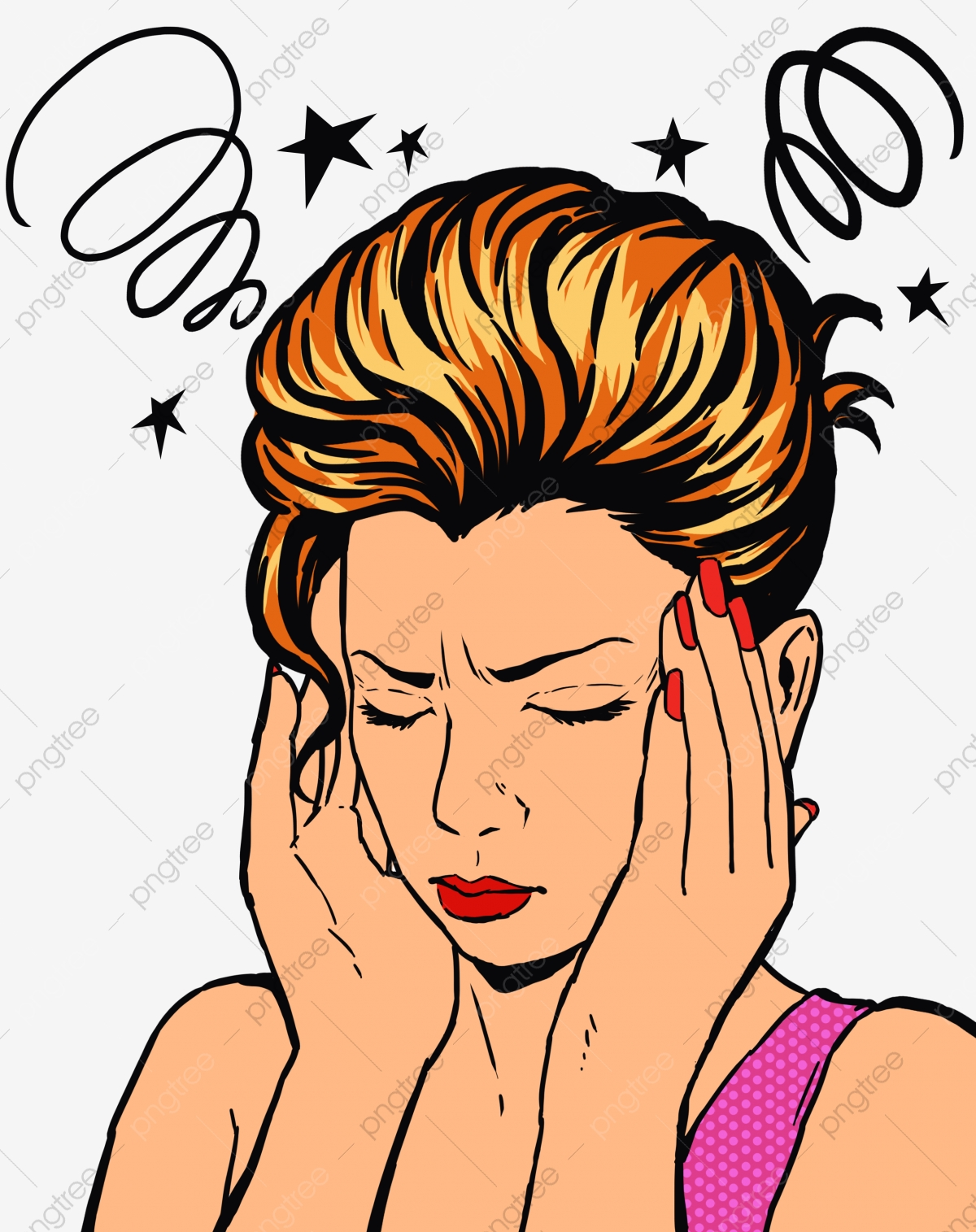 Dizziness And Headache Sick Uncomfortable Dizzy Png Transparent Clipart Image And Psd File For Free Download