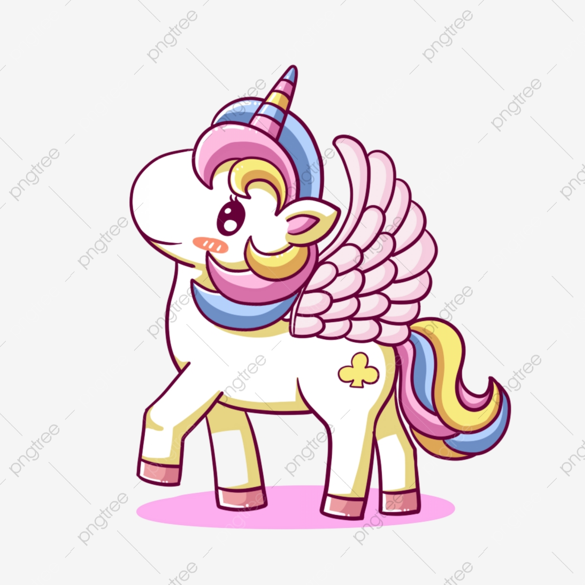 Cartoon Unicorn PNG Images   Vector and PSD Files   Free Download ...