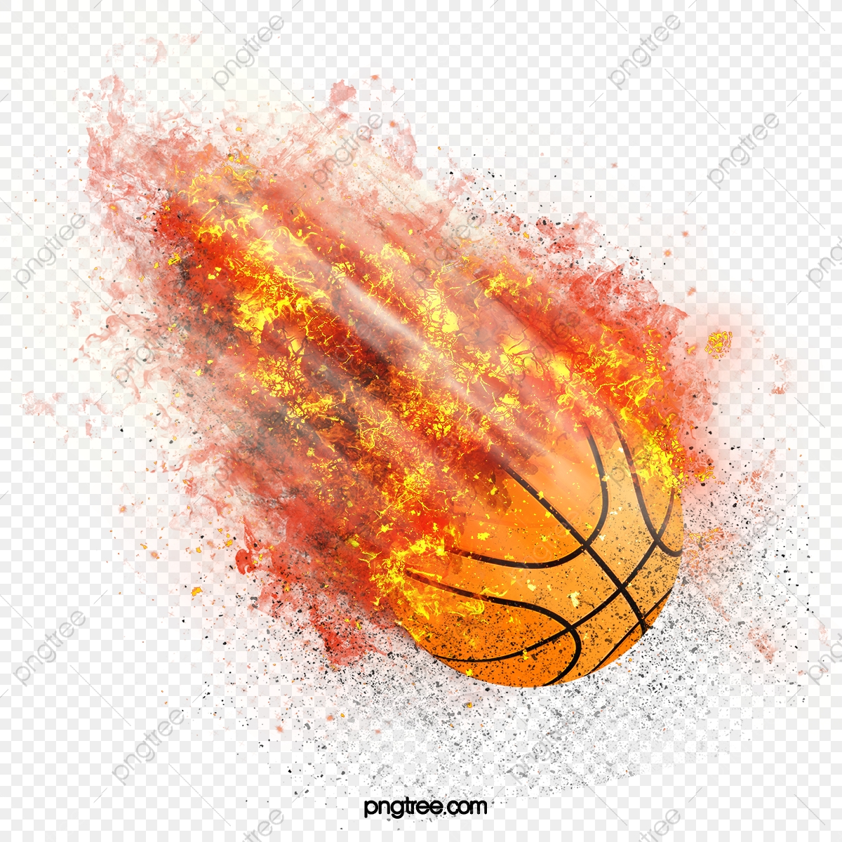 Basket Ball On Fire 3d Illustration Stock Photo, Picture And Royalty Free  Image. Image 9460161.