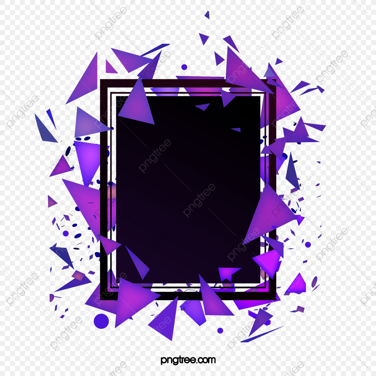 Download Fragment Decoration Party Geometric Border Geometric Frame Abstract Png Transparent Clipart Image And Psd File For Free Download