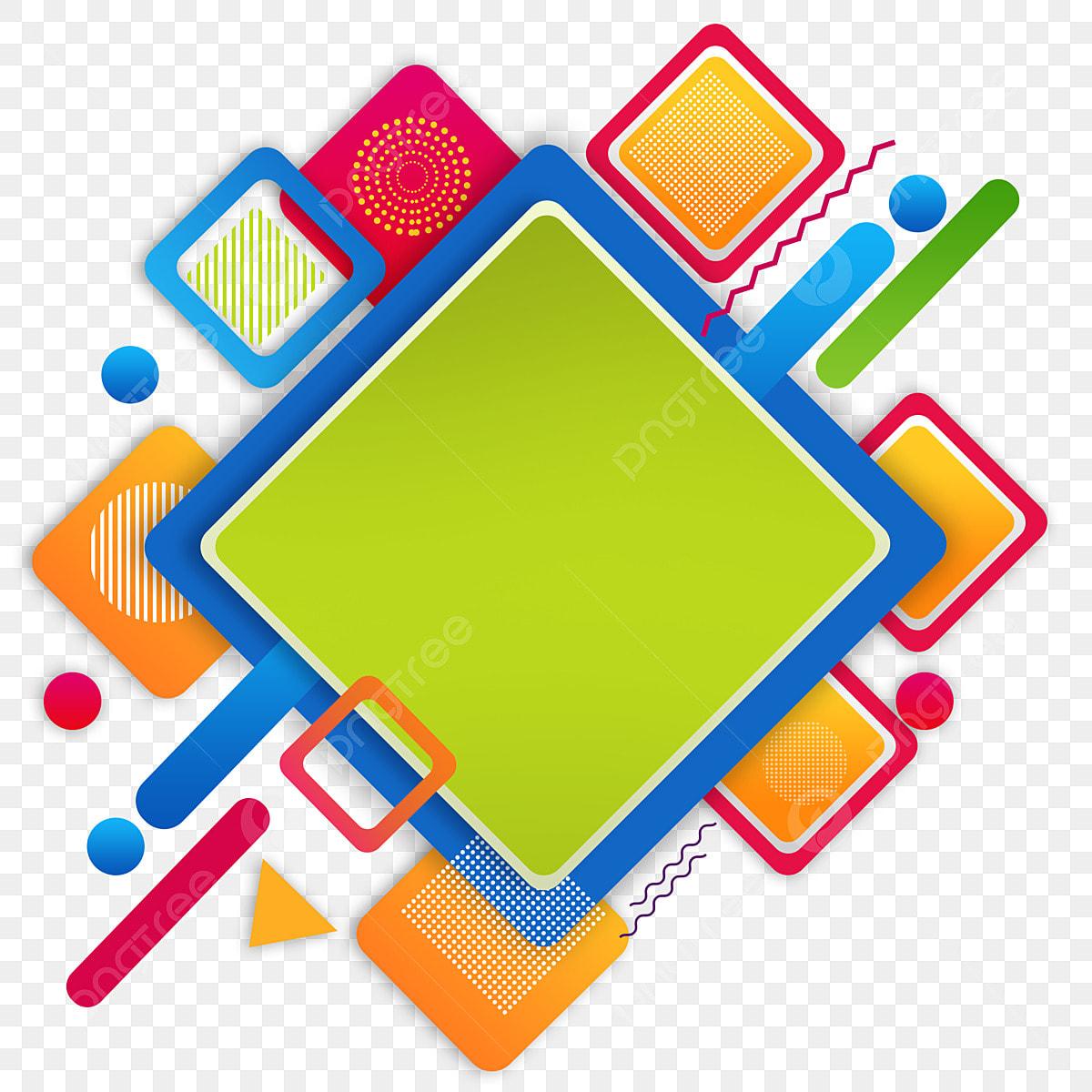 الأشكال الهندسية الأشكال الملونة مربع Png أشكال هندسية مجردة أسلوب ممفيس مجموعة من الأشكال الهندسية Png وملف Psd للتحميل مجانا