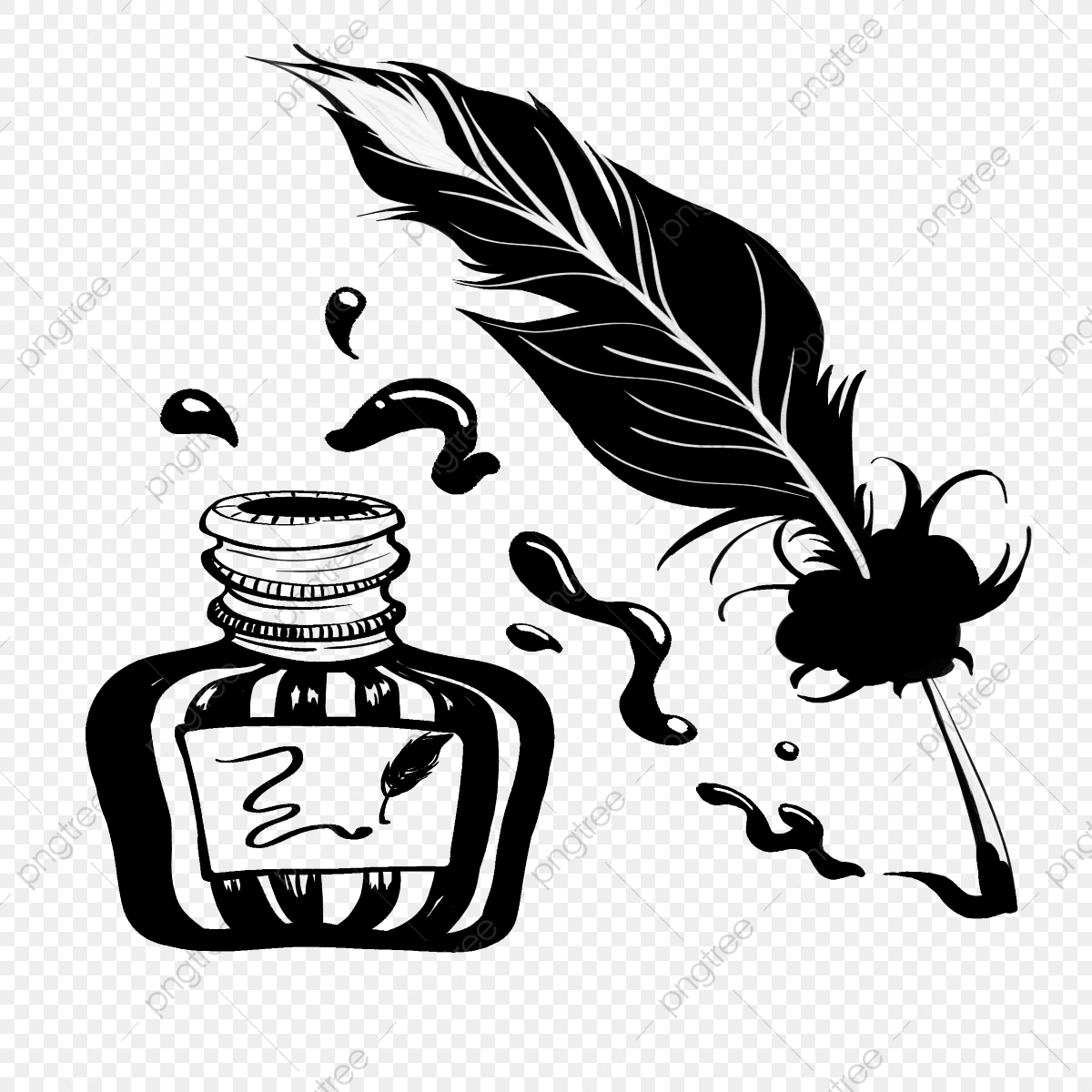 Ink Bottle Png Vector Psd And Clipart With Transparent Background For Free Download Pngtree