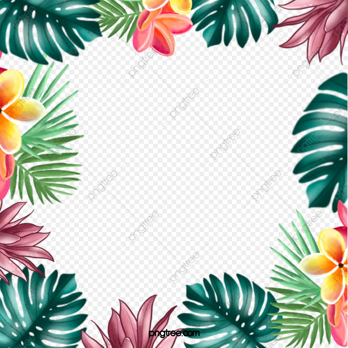 Hand Painted Tropical Leaves Border Leaf Flower Green Png Transparent Clipart Image And Psd File For Free Download Download the perfect tropical leaves pictures. https pngtree com freepng hand painted tropical leaves border 5361768 html