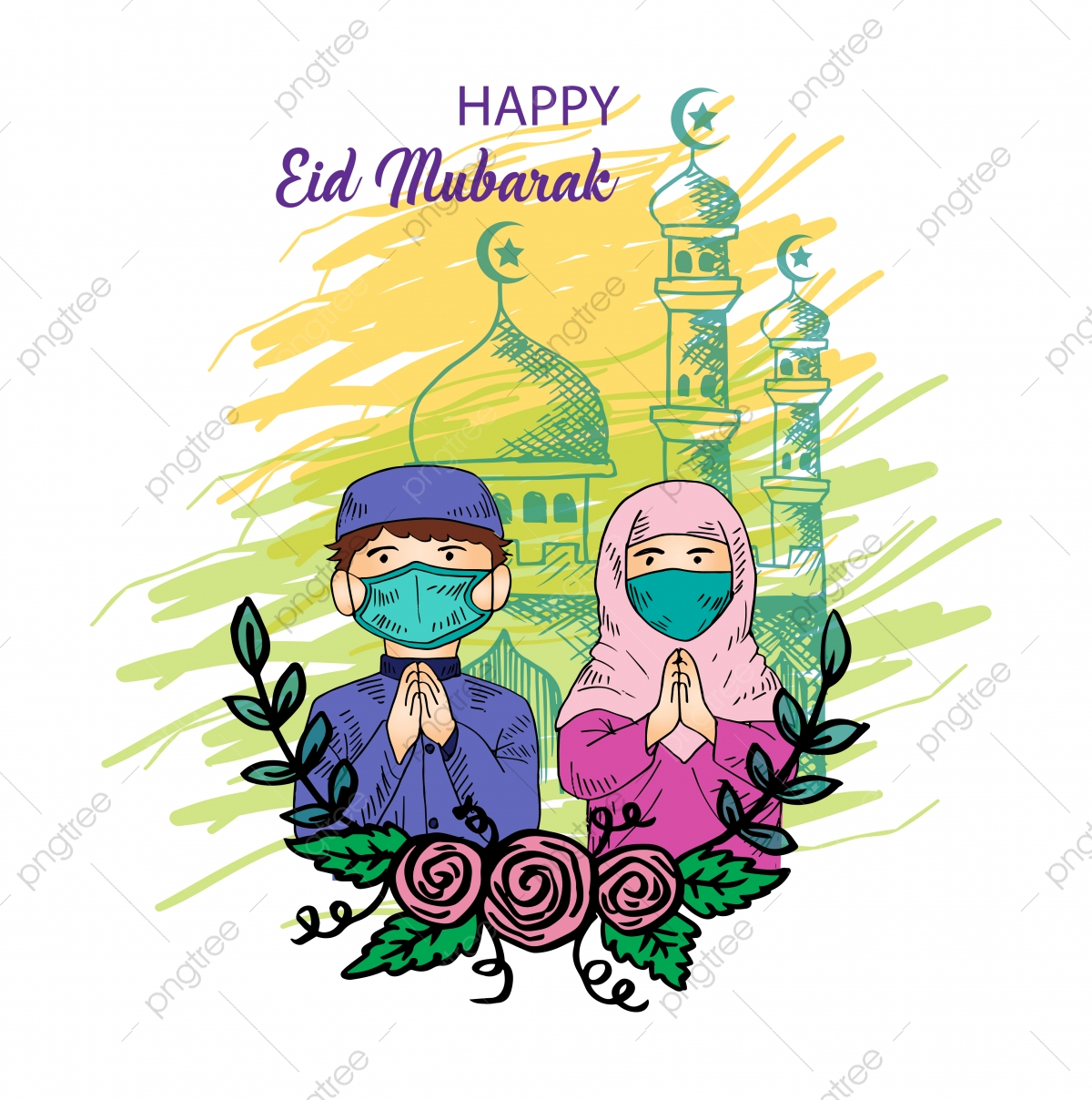 Happy Eid Mubarak Png Images Vector And Psd Files Free