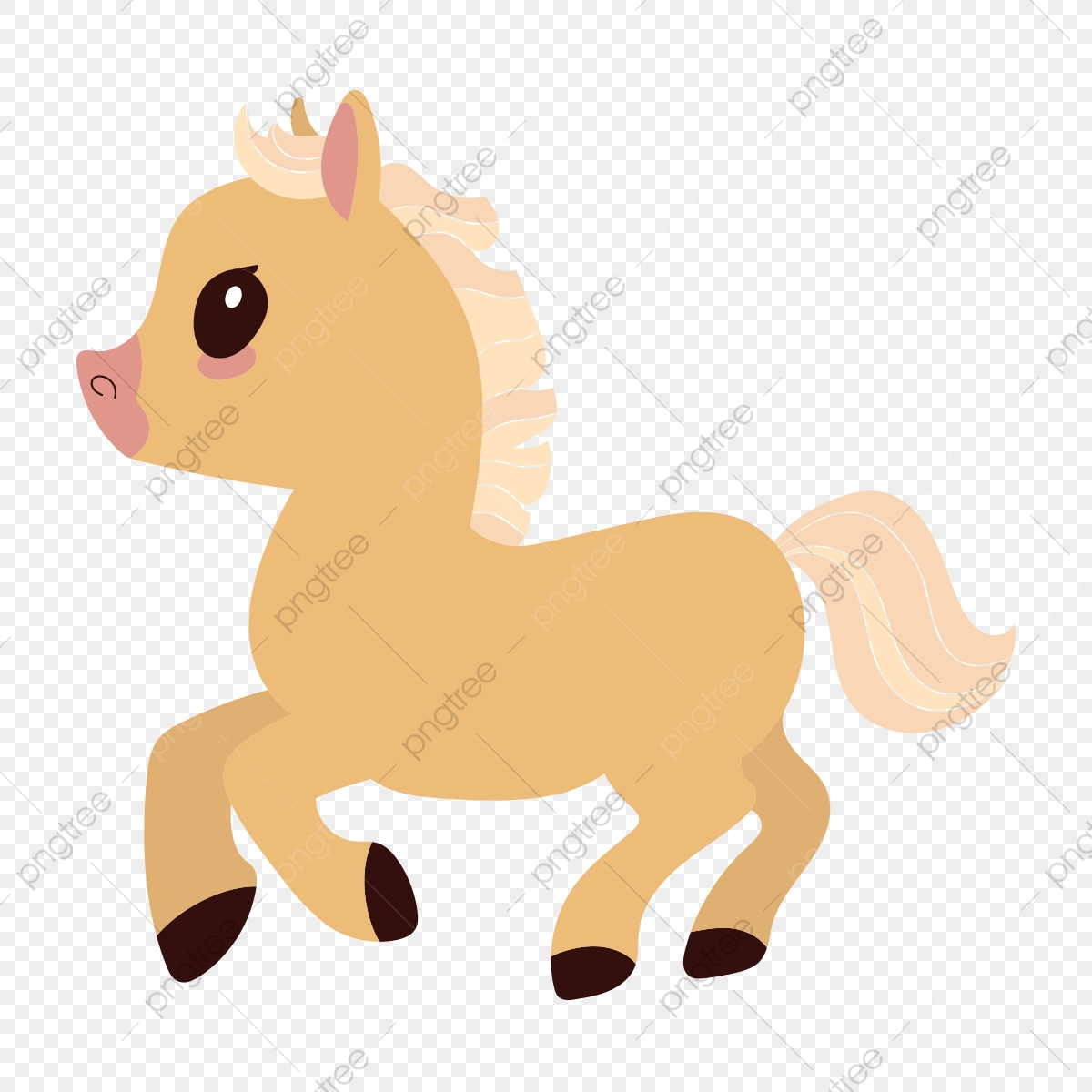 Horse Illustration In A Cute Cartoon Style Horse Clipart Cute Horse Horse Illustration Png And Vector With Transparent Background For Free Download