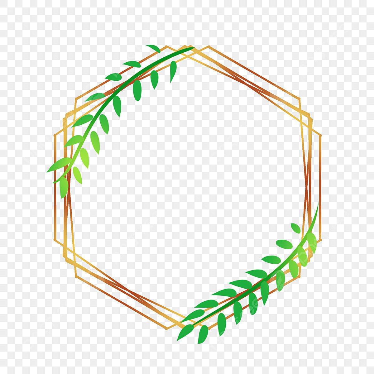 perbatasan daun segi enam benang emas daun segi enam png transparan gambar clipart dan file psd untuk unduh gratis https id pngtree com freepng leaf hexagon border 5405048 html