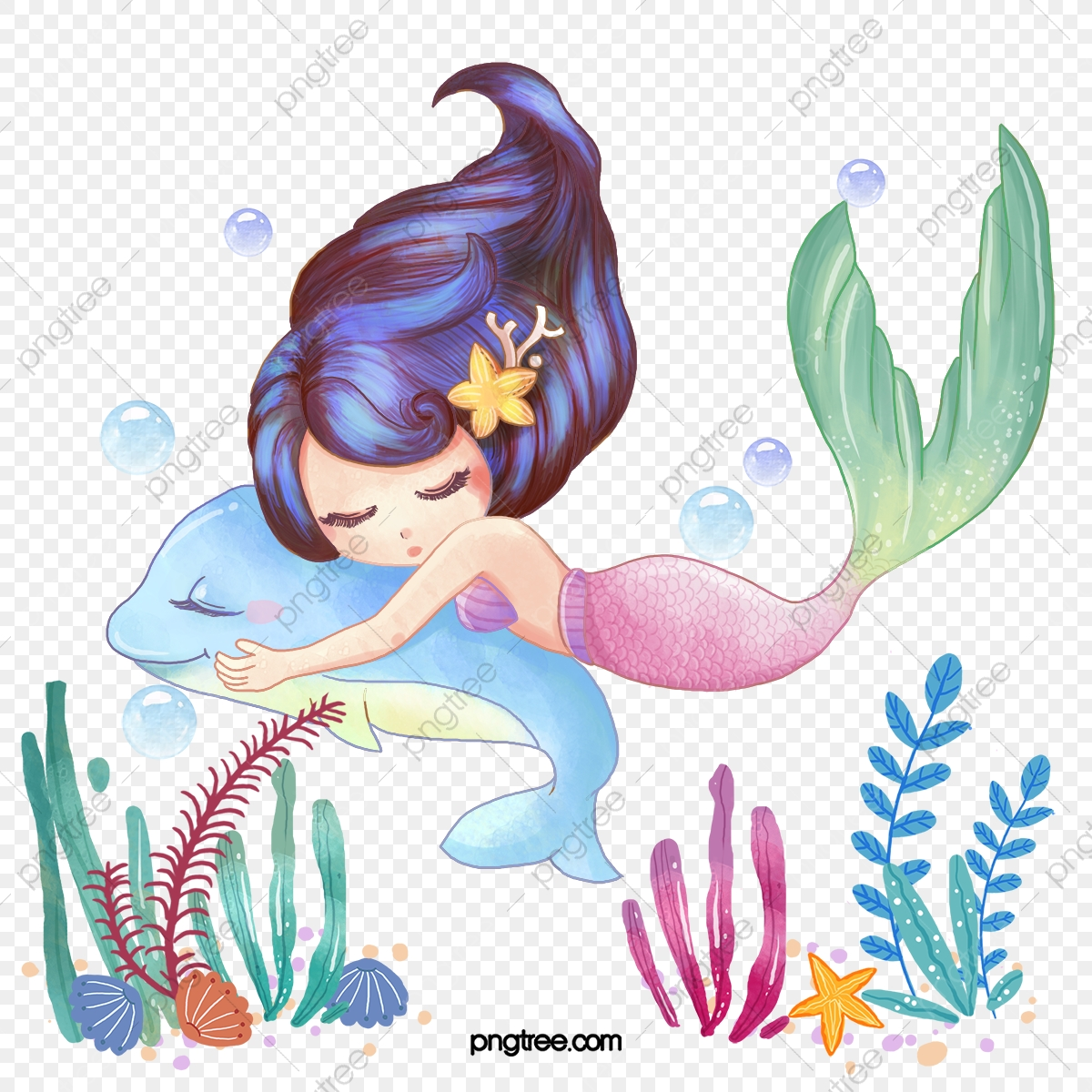 Mermaid Clipart Png Images Vector And Psd Files Free Download On Pngtree