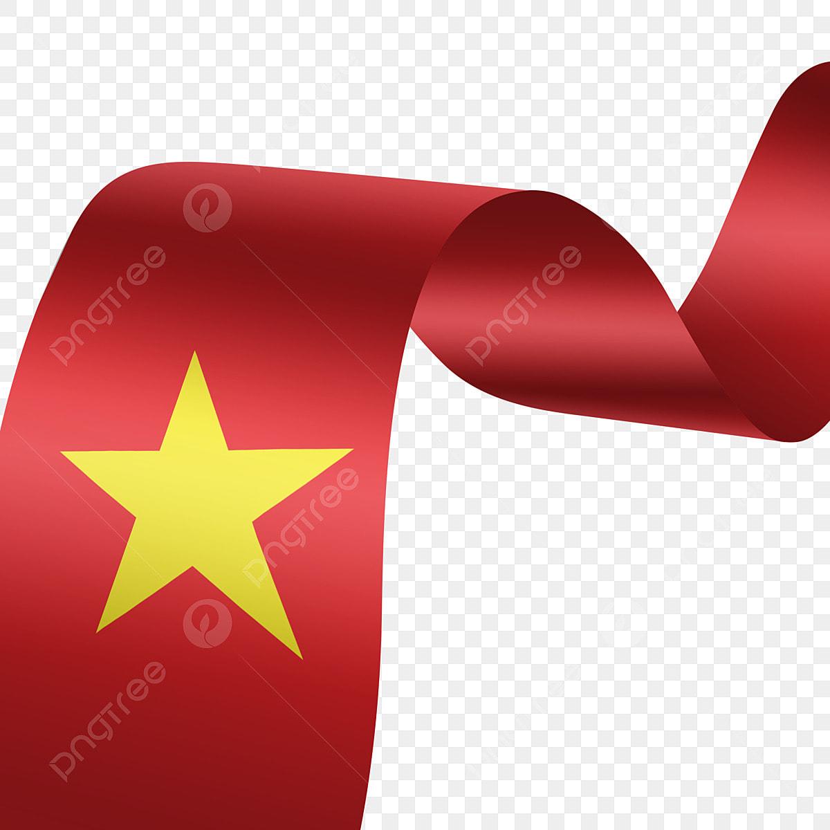 Gambar Hiasan Reben Bendera Vietnam Merah Merah Vietnam Bendera Png Dan Psd Untuk Muat Turun Percuma