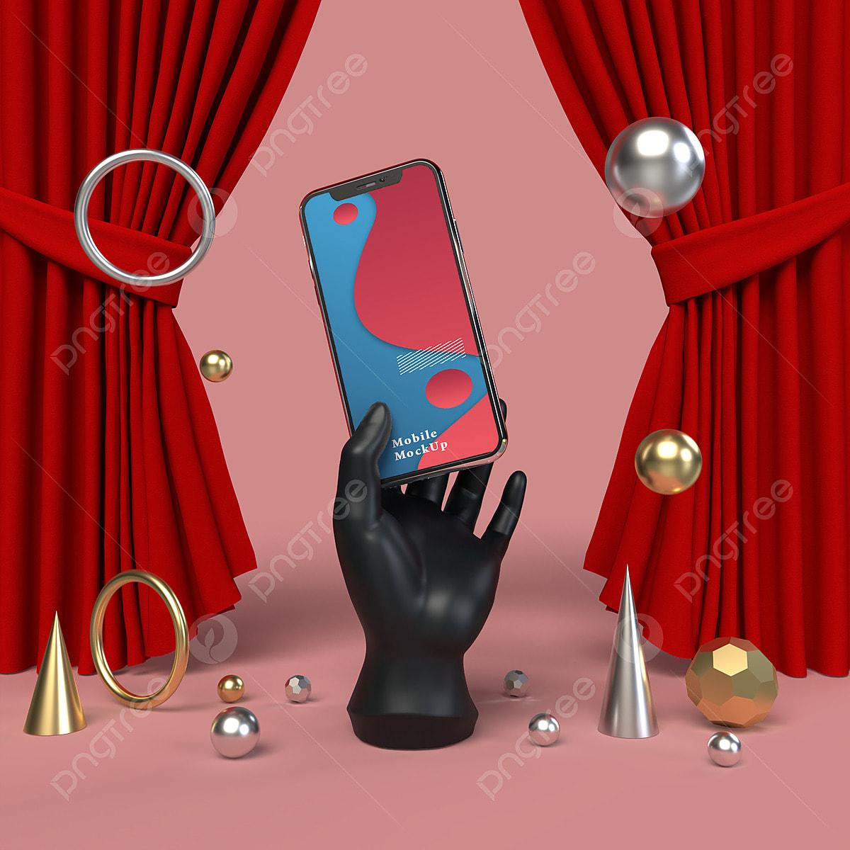 Smartphone Mock Up Phone Template For Infographic Or Presentation Ui Design  3d Render, Mock Up, Electronics, Website PNG Transparent Clipart Image and  PSD File for Free Download