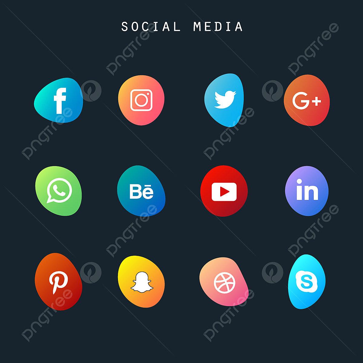 ايقونات التواصل الاجتماعي Png المتجهات Psd قصاصة فنية تحميل مجاني Pngtree