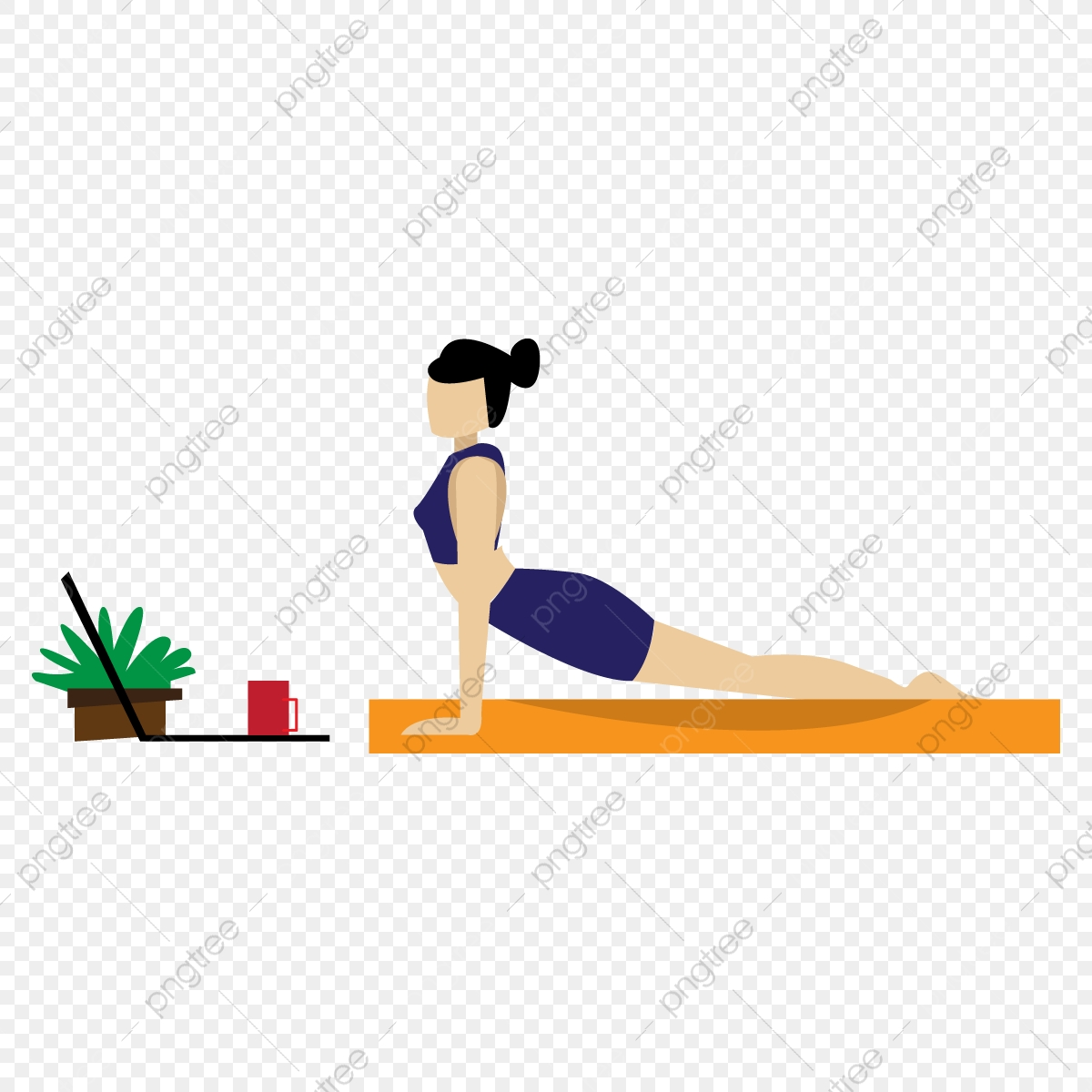 Stress Management By Yoga Stay At Home Learn Online Coronavirus 2019 Ncov Virus Stay Inside Png And Vector With Transparent Background For Free Download