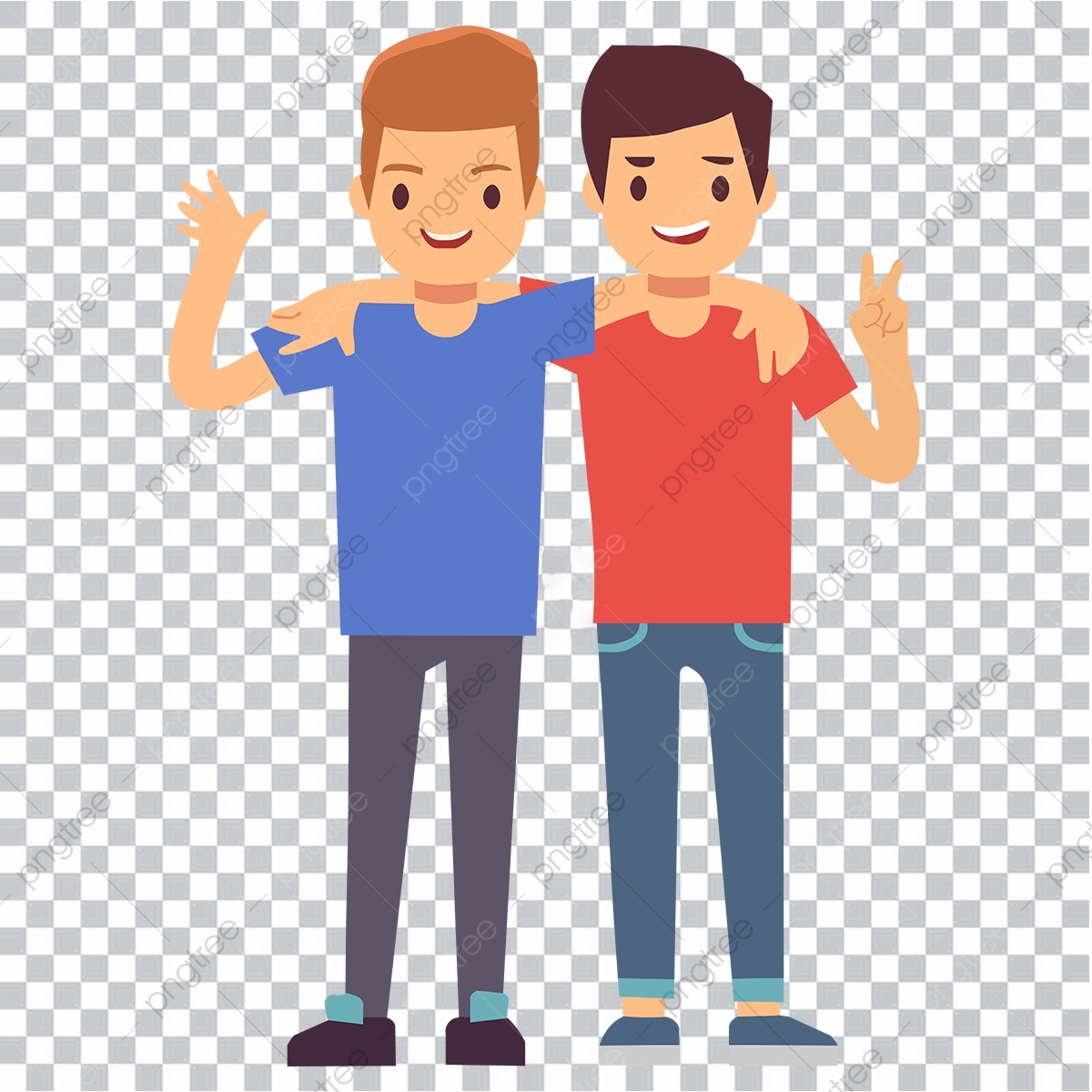 Cartoon Friends Png Images Vector And Psd Files Free Download On Pngtree