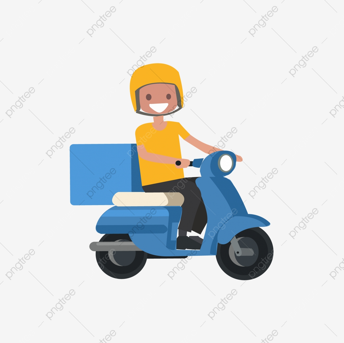 young boy riding an blue delivery scooter vector man blue delivery png and vector with transparent background for free download https pngtree com freepng young boy riding an blue delivery scooter vector 5366574 html