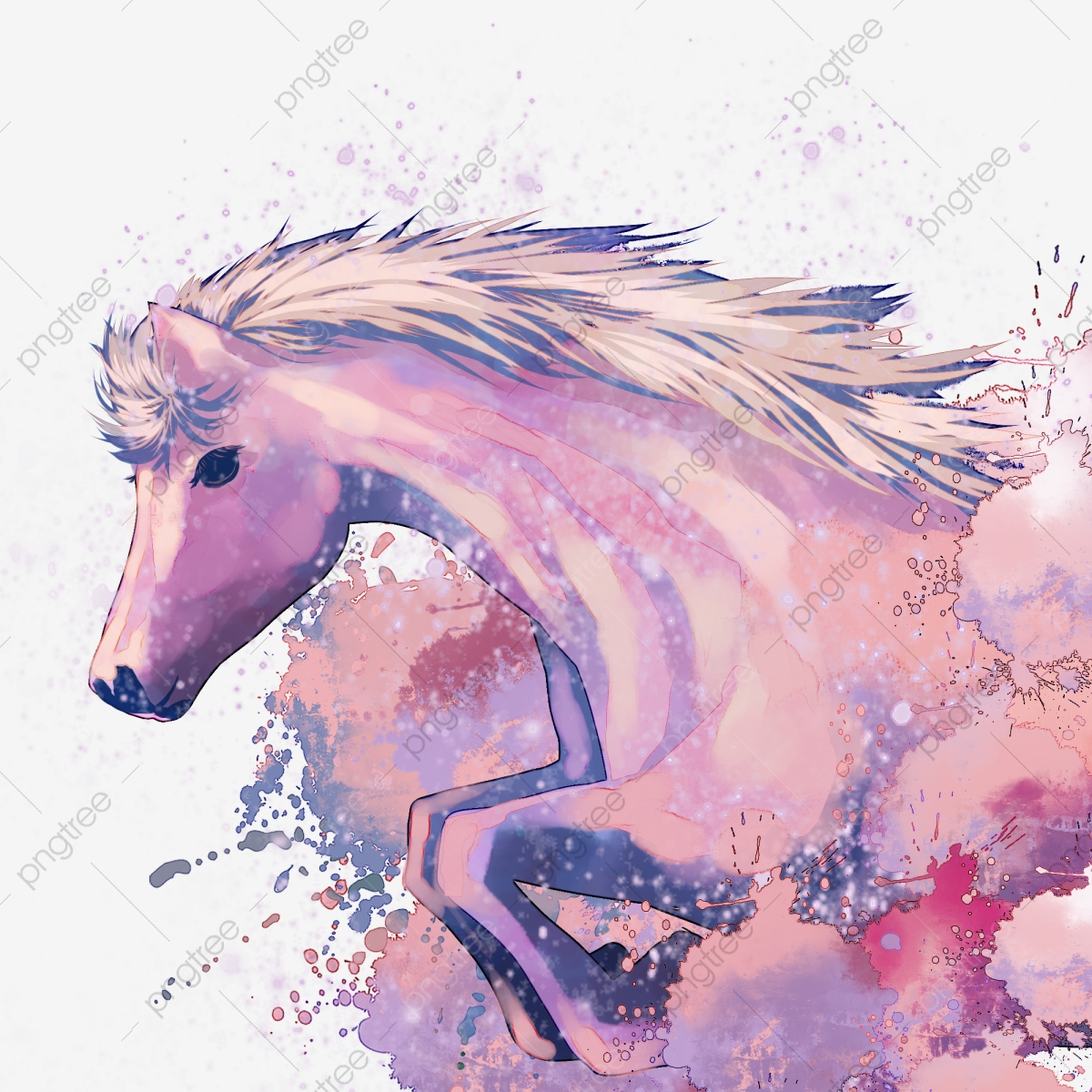 Watercolor Horse Png Vector Psd And Clipart With Transparent Background For Free Download Pngtree