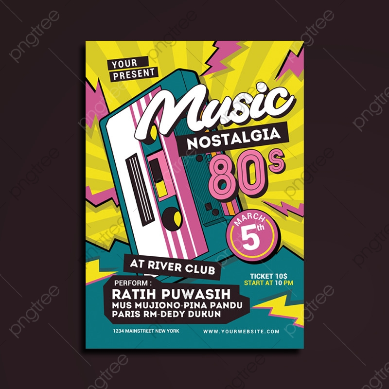 80 S Music Event Flyer Template For Free Download On Pngtree