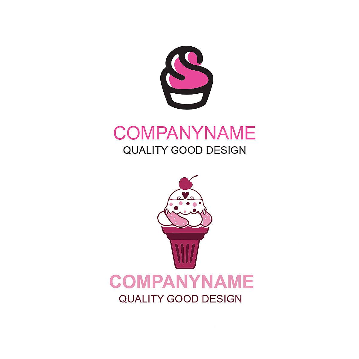 كيك كريم تصميم شعار قالب تحميل مجاني على ينغتري