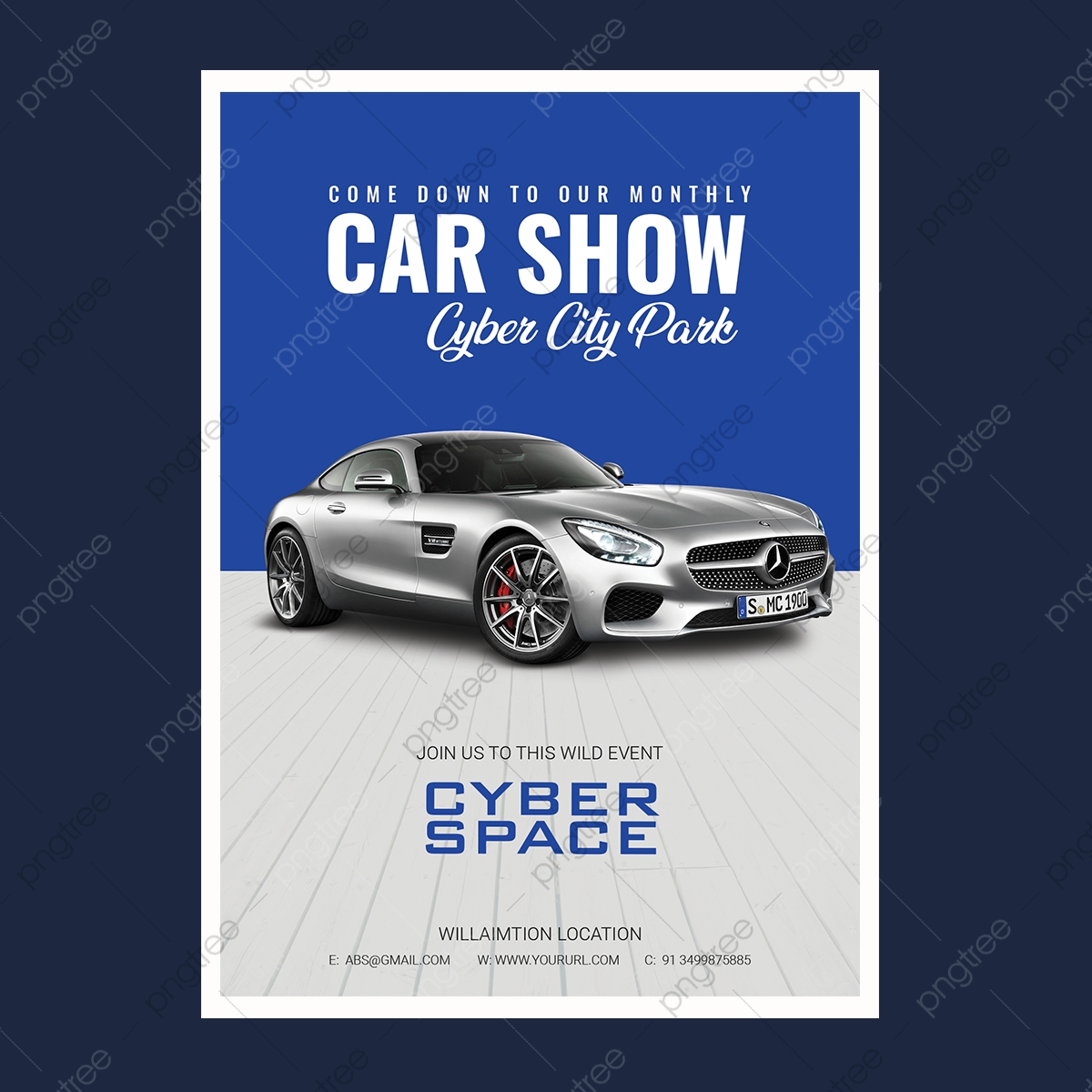 Free Car Show Flyer Template from png.pngtree.com
