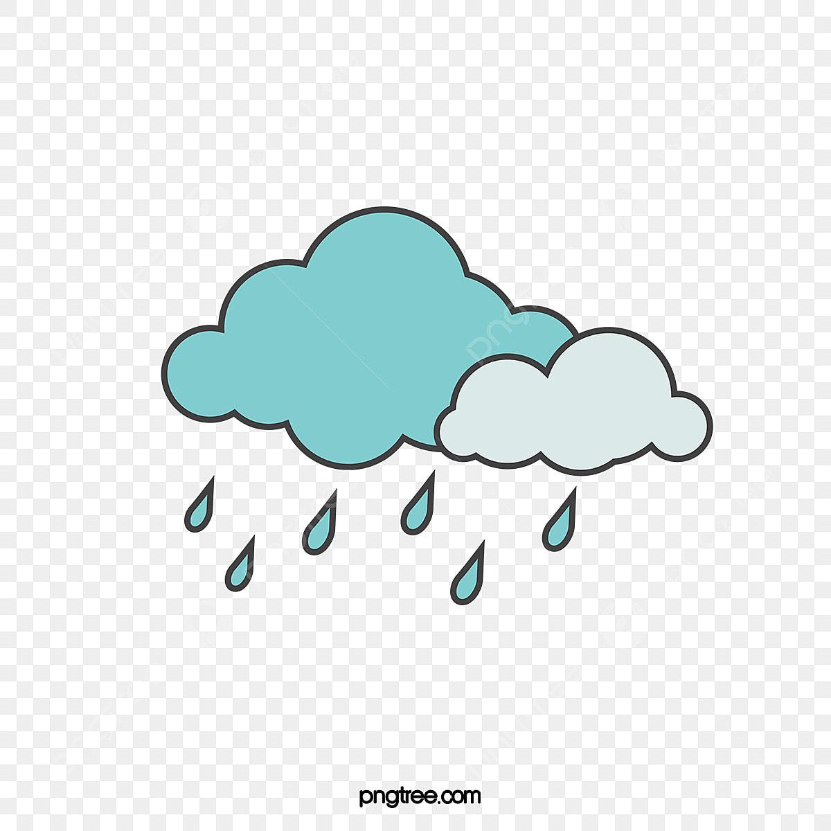 كرتون المطر كرتون قصاصات فنية مقطع المطر رسمت باليد Png والمتجهات للتحميل مجانا