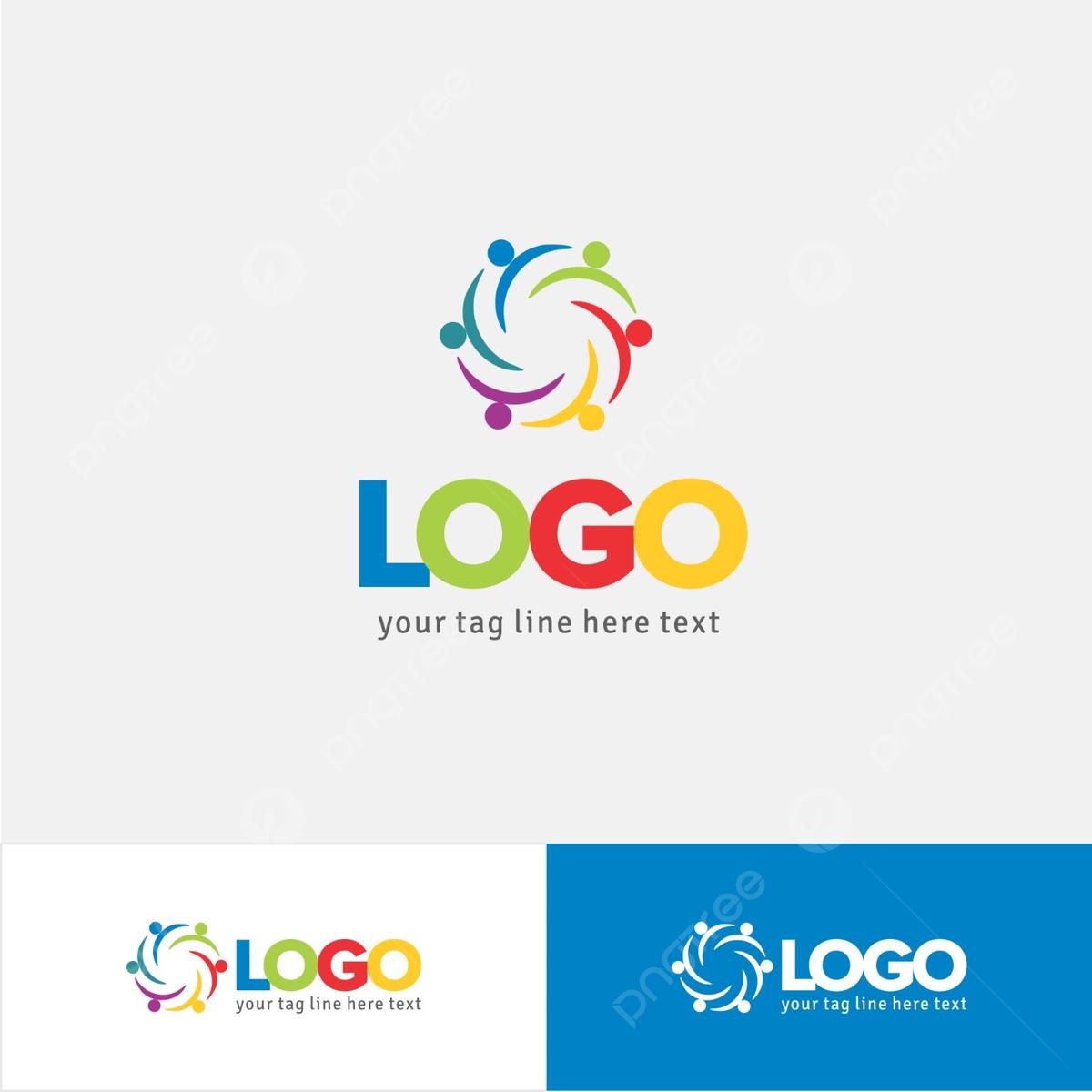 Modele De Conception De Logo Ong Colore Modele De Conception De Logo Gratuit Modele De Telechargement Gratuit Sur Pngtree
